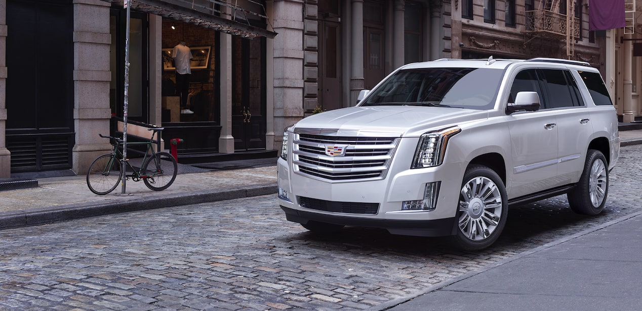 escalade white outdoor