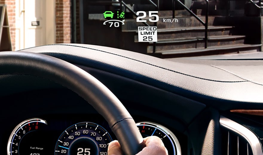 escalade headsup display