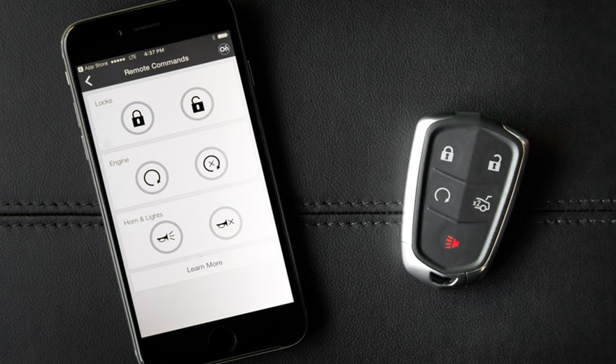 escalade remote start