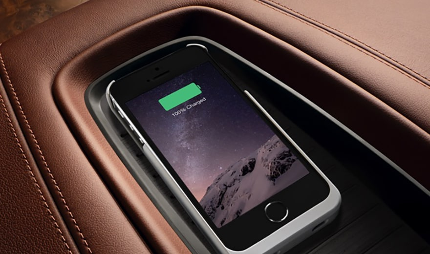 escalade wireless charging