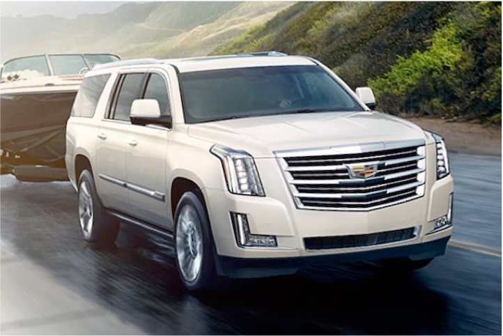2020 Cadillac Escalade Full-Size SUV Trailering a Boat