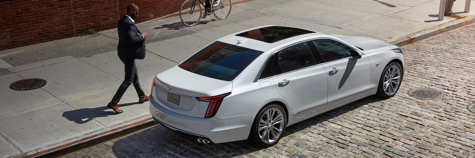 white ct6 sedan lifestyle