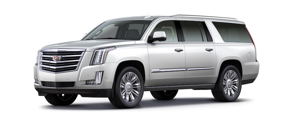 white escalade esv suv